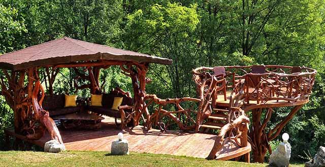деревянные беседки на даче
