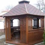 садовая беседка из готовых деревянных секций