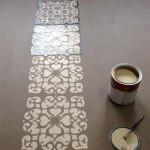 как сделать роспись на бетонном полу с помощью трафарета
