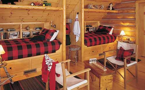 красивый интерьер загородного дома спальня