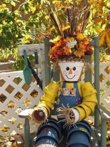 идеи осеннего декора для сада