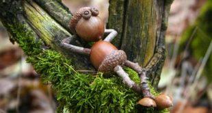 осенние поделки для сада из природных материалов