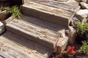 садовые дорожки из дерева иммитация из бетоных плит