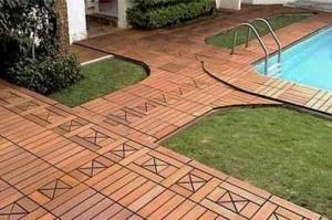 применение деревянного декинга на даче