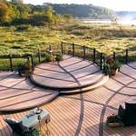 деревянные покрытия в дизайне даче