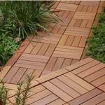 садовые дорожки из деревянных плит декинга
