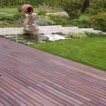 широкая садовая дорожка на даче