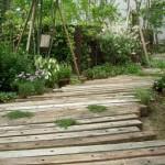 садовые дорожки из бу дерева