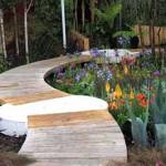 дизайнерские садовые дорожки из дерева