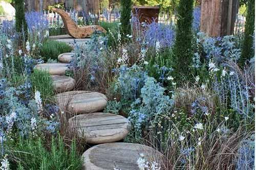 красивые садовые дорожки из дерева