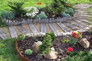 деревянные садовые дорожки