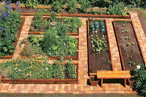 удобные садовые дорожки из кирпича