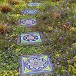 как сделать тротуарную плитку с мозаикой