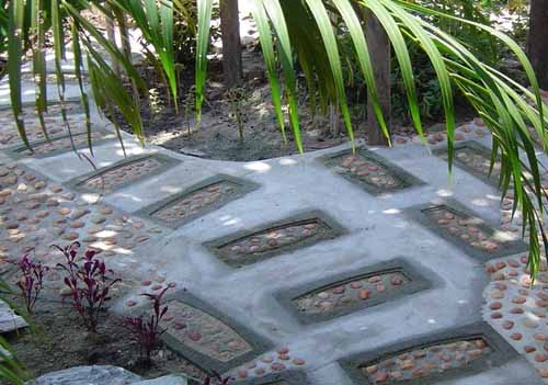 садовые дорожки из бетонных блоков