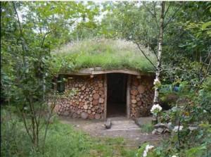 дачный домик из дерева и глины строим сами