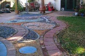 красивые варианты садовых дорожек из тротуарной плитки