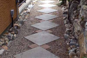 как сделать красивую садовую дорожку из тротуарной плитки