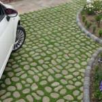 необычная форма тротуарной плитки для дачи