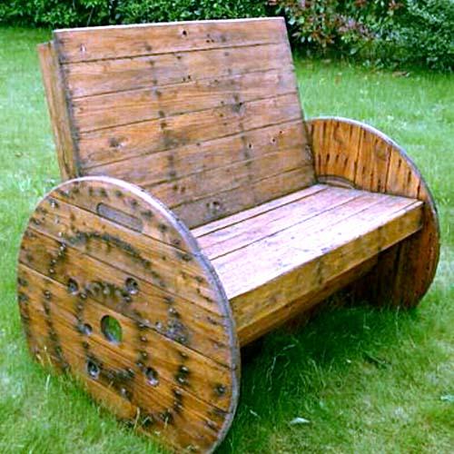 садовая скамейка своими руками из подручных материалов