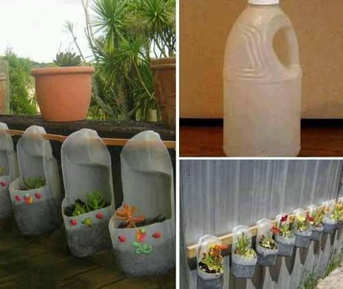 как использовать старые пластиковые бутылки в саду