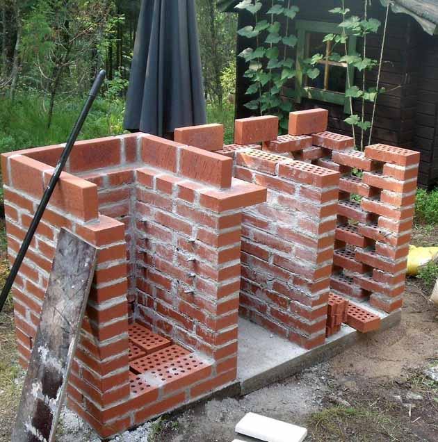 как построить мангал