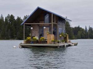 необычные плавучие дома