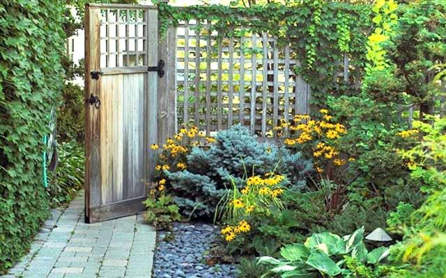вход в сад дизайн