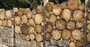 красивый деревянный забор фото