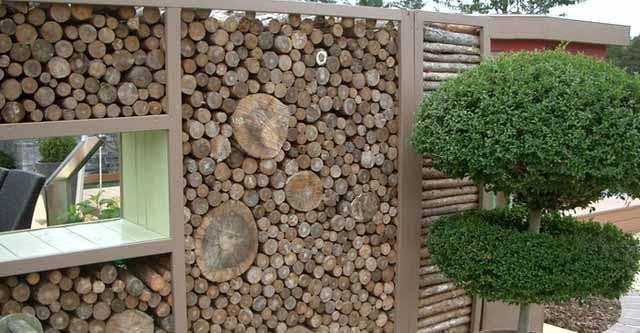 декоративный забор из дров фото