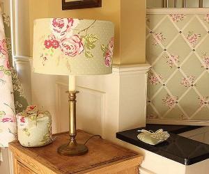 декор лампы обоями