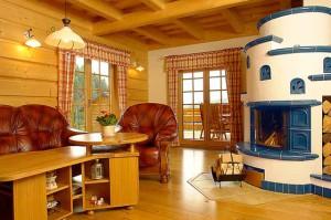 печка в современном интерьере