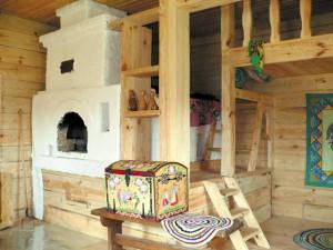 руская печь в деревянном доме
