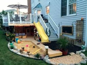 детская площадка рядом с домом своими руками
