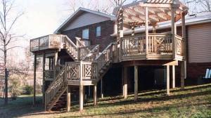 терраса пристроенная к двухэтажному дому