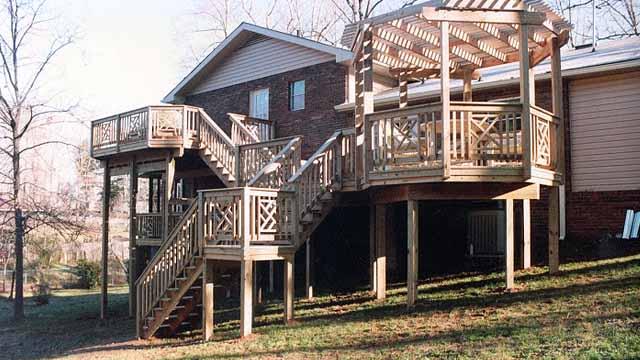 двухэтажная терраса