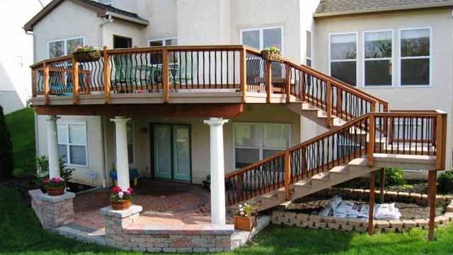 высокая терраса к дому проекты