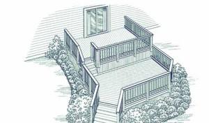терраса к дому многоуровневая проект 9 фото