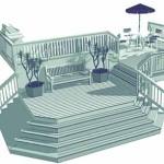 терраса к дому многоуровневая проект 3 фото