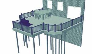 высокая терраса к дому проект