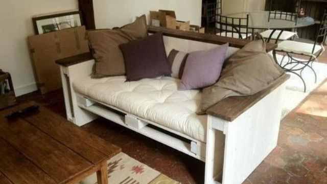 диван из поддонов своими руками