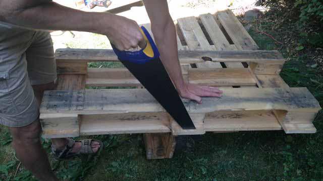 как делать мебель из поддонов своими руками