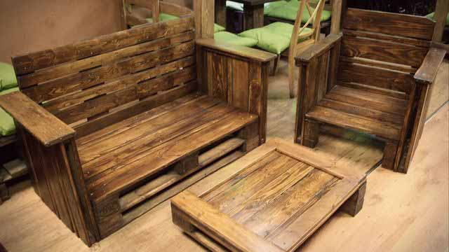 дизайн мебели из поддонов