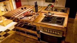 кухонный стол из поддонов