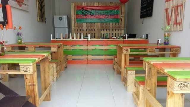 мебель для кафе из поддонов