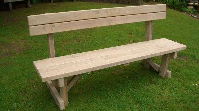 Деревянная скамейка со спинкой своими руками фото 78