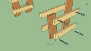 чертеж простой деревянной скамейки
