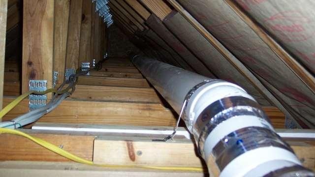 вентиляция в гараже с мансардой