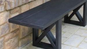 простая скамейка