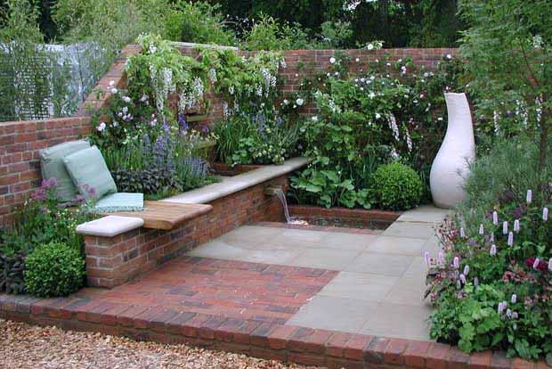 красивая садовая скамейка фото