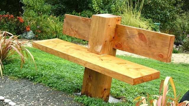 оригинальная садовая скамейка фото